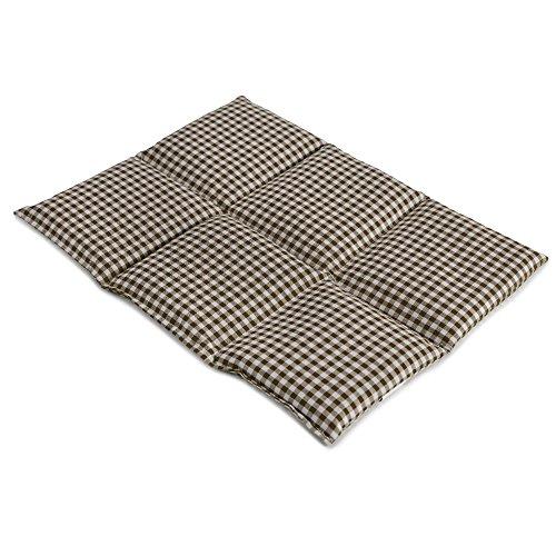Bio-Dinkelkissen groß 40x30cm 6-Kammer, braun-weiß - Wärmekissen Dinkel Körnerkissen für Mikrowelle und Backofen - Dinkel-Kissen 30x40, braun-weiß