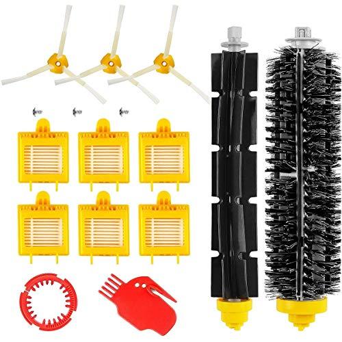 MTKD® Kit de 13 Repuestos Compatible con iRobot Roomba Serie 700 (700, 760, 770, 780 y 790) - Kit Accesorios (Cepillos Lateral, Filtros, Cepillo de Cerda y etc..) para Aspirador Robot.