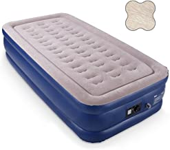 HIWENA Twin Air Mattress with Built-in Pump, Butterfly Coil Airbed with Comfortable Top, Elevated Raised Double High Camping Mattress, Inflated Size 80x40x18 inches