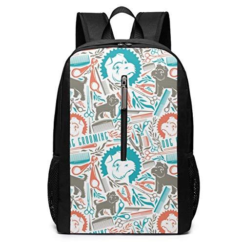 TRFashion Sac à Dos Dog Grooming Laptop Backpack 17 inches Travel Gym Bag Yoga Bag School Bag Book Bag for Men Women Teenagers