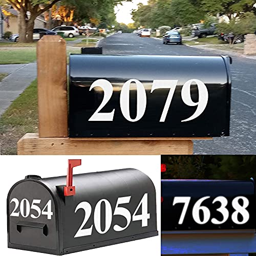 Reflective Mailbox Numbers Sticker Decal 5 Sets(3