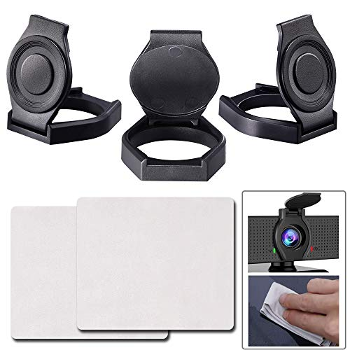 Webcam Lens Cover, 3 Pack Webcam Privacy Cover, Shutter Protects Lens Cap Hood Cover,Free 2 Pcs Cleaning Cloth (76in), Protecting Privacy for Webcam C920 C930e C922X Pro Stream Webcam
