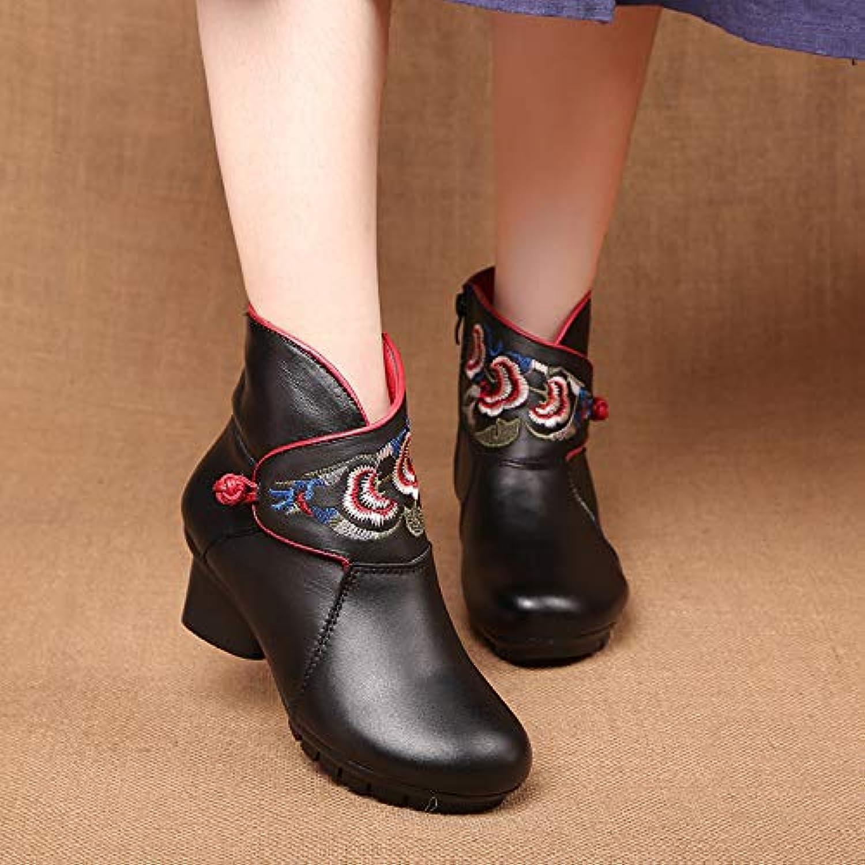 HOESCZS HOESCZS Damenschuhe National Wind Damenschuhe Spring Stiefel Damenschuhe Mit Dicken Und Kurzen Damen Stiefeln Bestickt Baumwolle Schuhe Lederschuhe  Schnelle Lieferung und kostenloser Versand für alle Bestellungen