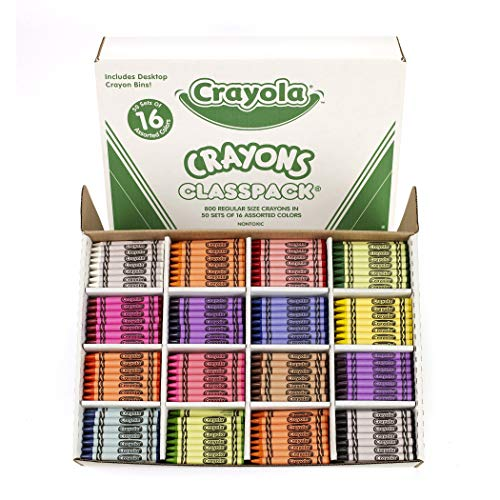 Crayola Crayon Classpack, School Supplies, 16 Colors (50 Each), 800 Ct, Standard