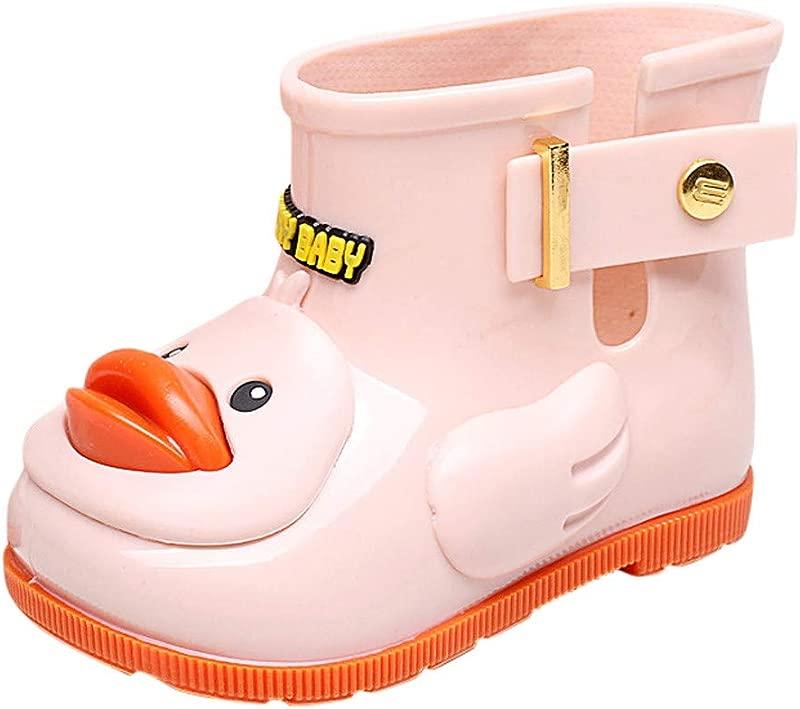 Infant Kids Rain Shoes Children Cartoon Duck Rubber Rain Antiskid Shoes Galoshes