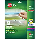 Avery Self-Adhesive White Removable Laser Id Labels, 1/2' x 1-3/4, 2000 per Pack (6467)