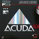 Tischtennis Holz Donic Acuda S3, Schwarz, 2,0 mm