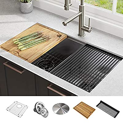workstation kitchen sink double bowl