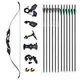 D&Q Recurve Bow and Arrow Set for Adult & Youth Beginner Takedown Recurve Bow 56