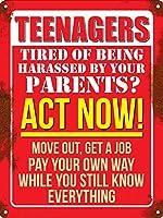 Teenagers Act Now ティンサイン ポスター ン サイン プレート ブリキ看板 ホーム バーために