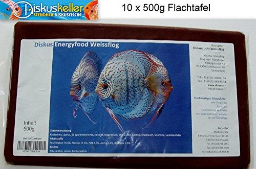 Weissflog Frostfutter Sparpaket 10 x Rendle`s Diskus Energyfood Rinderherz 500g Flachtafeln