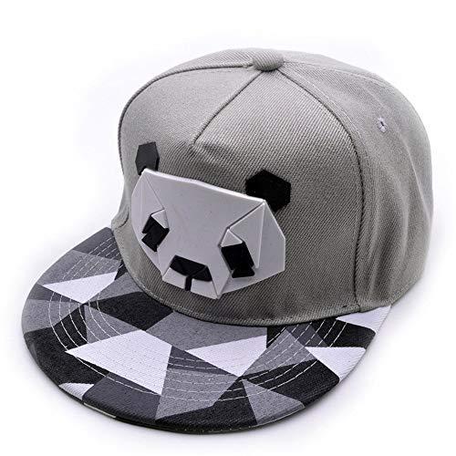 便利で実用的野球帽、ラブリーパンダキャップスナップバックヒップホップフラット帽子夏カジュアルスポーツキャップレディース女の子メンズポータブル