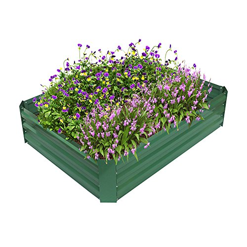 ART TO REAL Garden Metal Raised Bed, Powder-coated Raised Planter for Vegatable Flower Grows, Anti-rust, No Crack, No Decay, 120cm * 90cm * 30cm