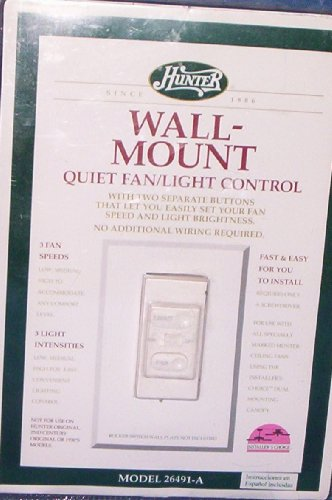 Hunter Wall Mount Quiet fan/light control
