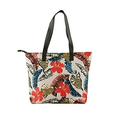 COLES Women's Floral Art Printed Tote Bag (Multicolour)