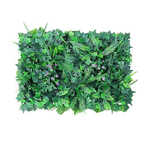 Yunhigh-uk Künstliche Heckenplatte, 40 × 60 cm Garten Realistische Blätter Pflanze Privatsphäre Zaun Screening für Indoor Outdoor Garten Hinterhof Wandzaun Dekoration