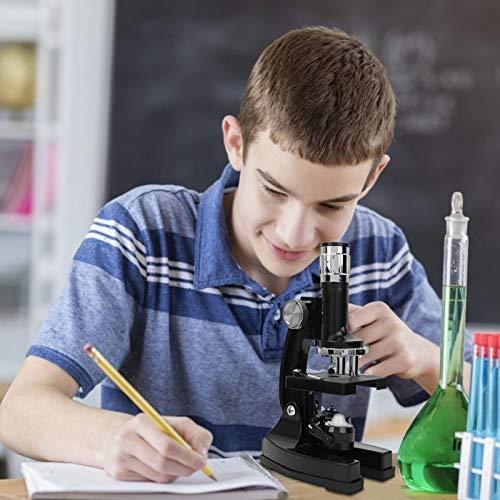 Meiyya Biological Microscope, Optical Glass Lens Microscope Set, 60X Objective Lens Biological Microscope for Children Kids