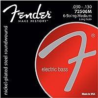 Fender ベース弦 7250 Bass Strings, Nickel Plated Steel, Long Scale, 7250-6 .030-.130