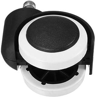 chaselpod ウレタンキャスター OAオフィスチェア用ホイール 変換ゴムキャスター ホイール差込式 360度回転 差込式キャスター 静音 傷つけにくい 足回りパーツ 適応穴直径11mm (ホワイト)
