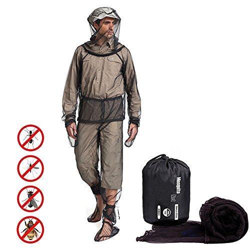 UVAN ART Bug Jacket Ropa contra Insectos Chaqueta Manoplas Pantalones Calcetines Ligero Malla Ultra-Fino