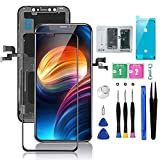 for iPhone X Screen Replacement LCD 5.8 inch with 3D Touch Screen Display Digitizer Assembly Set for A1865,A1901,A1902 w/Repair Tools Kit+ Waterproof Frame Adhesive Sticker+Screen Tempered Protector