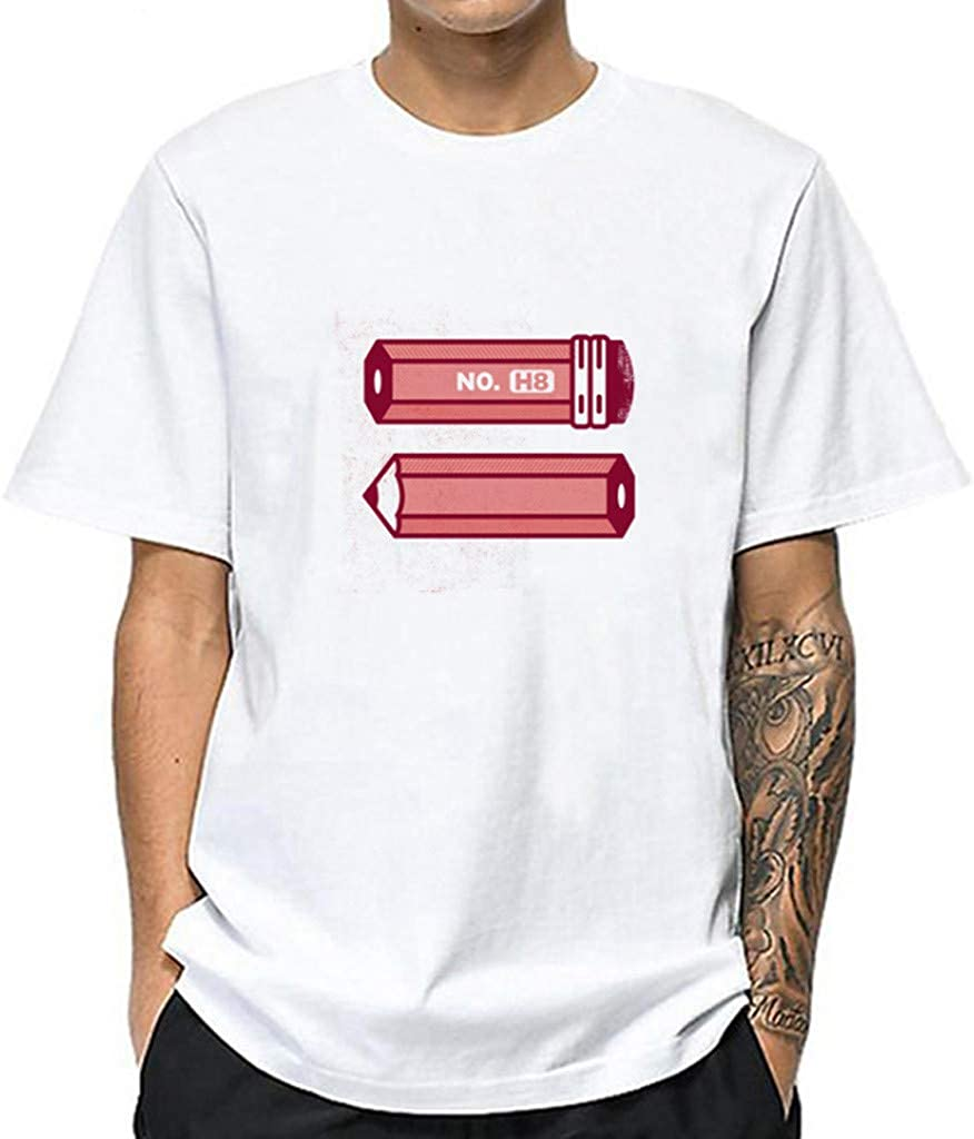 MODOQO Men's Short Sleeve O-Neck T-Shirt Pullover Summer Casual Tee Tops