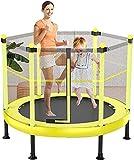 WangQiLing Indoor Kinder Spielen Trampolin, Sports Trampolin, Gartentrampolin mit Sicherheitsnetz,...