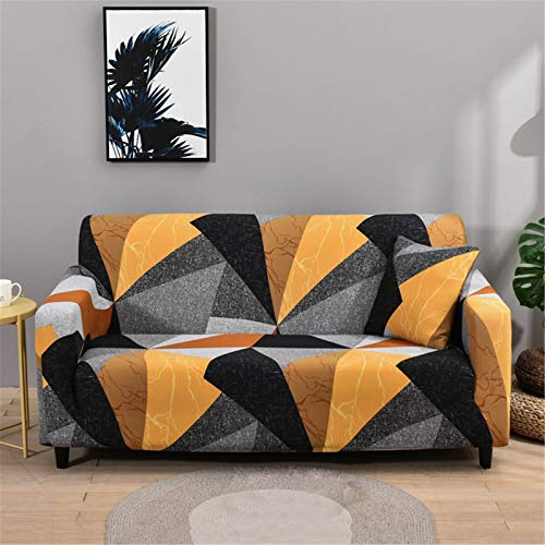 ZYRLWJ Cubre Sofas, De 1 2 3 4 Plazas Funda Sofá Impresión Ajustables Funda De Sofá (con Funda De 2 Almohadas) Protector De Muebles (F-13,3 Plaza)
