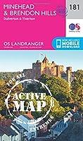 Minehead & Brendon Hills, Dulverton & Tiverton (OS Landranger Active Map)