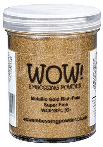 Metallic goud rijk bleke super fijn (grote TUB 160ml) WOW! Embossing Poeder
