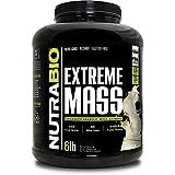 NutraBio Extreme Mass 6 lbs (Vanilla) – High Calorie Mass Gainer Supplement
