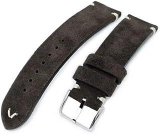 Cinturino per orologio in pelle con cinturino 20mm, 21mm, 22mm MiLTAT Cinturino per orologio in vera pelle nabuk marrone s...