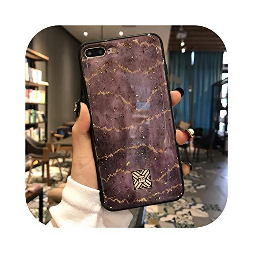 Carcasa de silicona para iPhone 11 Pro Xs Max X XR 6 6S 7 8 Plus SE con purpurina abstracta y líneas onduladas de lujo, D20-For i6 Plus i6s Plus