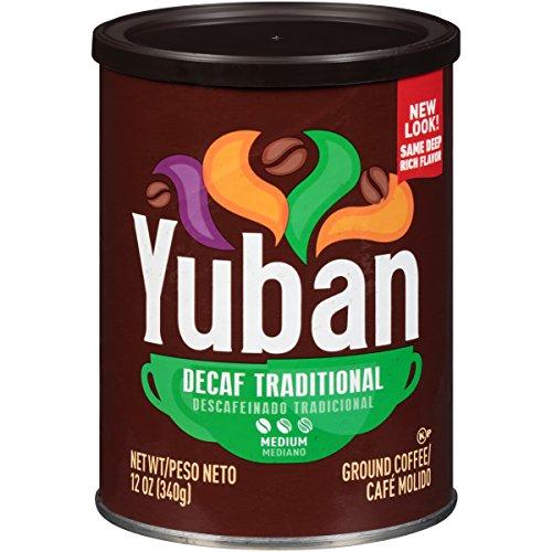 Yuban Traditional Decaf Medium Roast Ground Coffee Blend (12 oz Canister)
