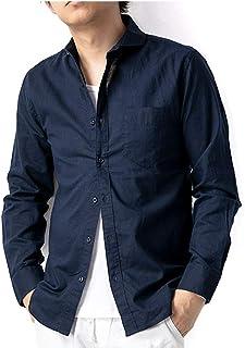 ジェネレス リネン シャツ 長袖 7分袖 涼しい 綿麻シャツ コットンリネン 無地 メンズ