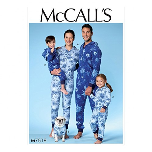 McCall's Family Easy Sewing Pattern 7518 Hooded...
