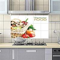 YIBOKANG 幸福の味の果物と野菜のレストランの台所の反石油の自己接着壁のステッカー45 * 75cmの高温防水タイルのキャビネットの装飾の壁のステッカー