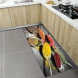 Alfombra de Cocina con diseño de Especias, Alfombrilla para...