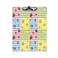 フォルダーボードフォルダーライティングボード 春 事務用品の文房具 (2パック)イチゴの鎮静ブルーベルとマリーゴールドピクニックデザイン多色のカラフルなパターン