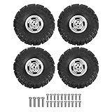 Dilwe Neumático de Coche RC, Reemplazo de actualización de neumático de Caucho de Metal RC...