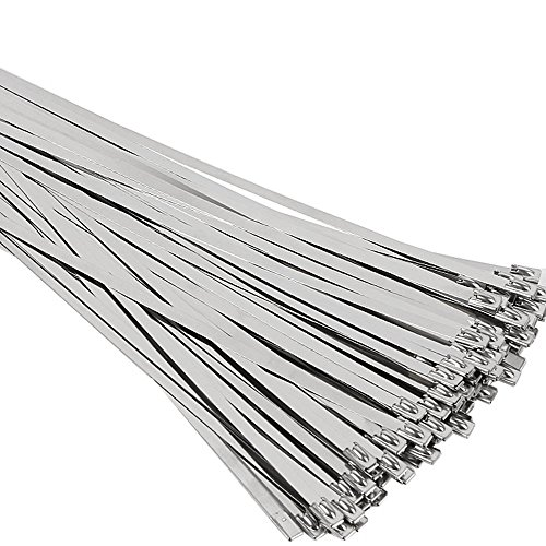 SunplusTrade 100pcs 11.8 Inches Stainless Steel...