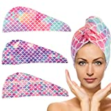 3 Pack Microfiber Hair Drying Towel- Super...