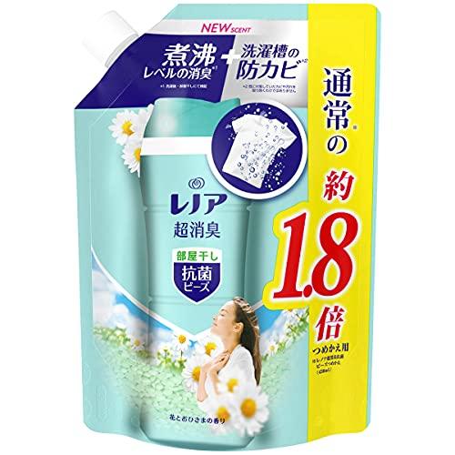 スマートマットライト レノア 本格消臭+ 抗菌ビーズ 部屋干しDX グリーンフレッシュハーブ 詰め替え 約1.8倍(760mL/482g)