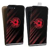 Étui Compatible avec Apple iPhone 7 Plus Étui à Rabat Étui magnétique Diables Rouges Produit...