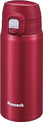 ピーコック 水筒 ステンレスボトル ワンタッチタイプ カーディナルレッド 400ml AMY-40 RCA