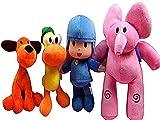 zcm Juguete de Peluche 4pcs / Set Muñeca De Peluche Pocoyo Elly Y Pato Y Pocoyo Y Loula Peluche De Peluche Animales De Peluche Juguetes para Niños Niños