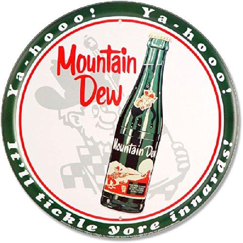 """Dpnamron Mountain Dew Bottle 12"""" Round Metal Sign"""