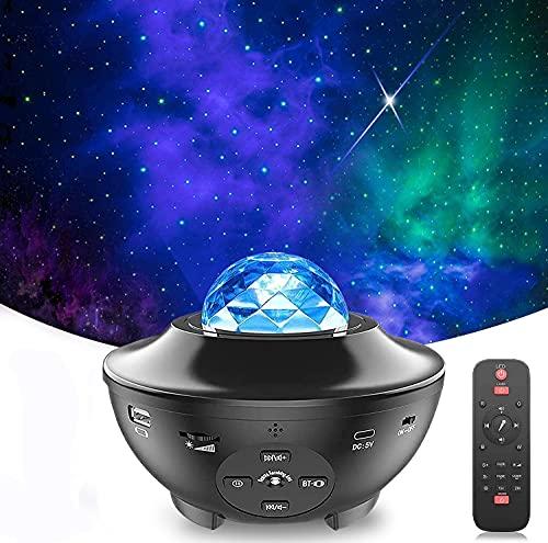LED Proiettore Cielo Stellato Lampada , Proiettore a Luce Stellare, Proiettore Stellato Bluetooth, LED Luce Rotante Nebulosa con Timer e Telecomando, per Bambini/Adulti/Regalo