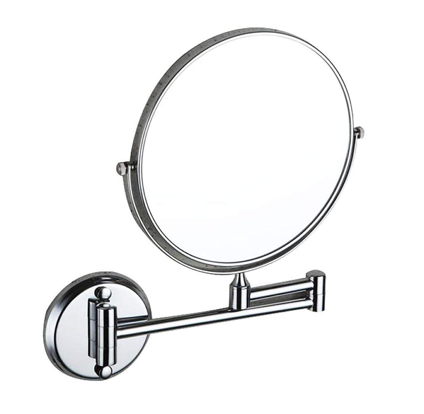 ヒギンズ野なストローHUYYA シェービングミラー 壁付、バスルームメイクアップミラー 3 倍拡大鏡 バニティミラー 両面 化粧鏡 折りたたみ 寝室や浴室に適しています,Silver_6inch