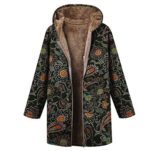 Luckycat Chaquetas Traje Mujer Abrigo Mujer Invierno para Mujer Chaleco Kimono Chaqueta Blazer Talla Grande Mujer Abrigos con Capucha Estampado Floral Chaqueta Lana Boho Parka Vintage Abrigo